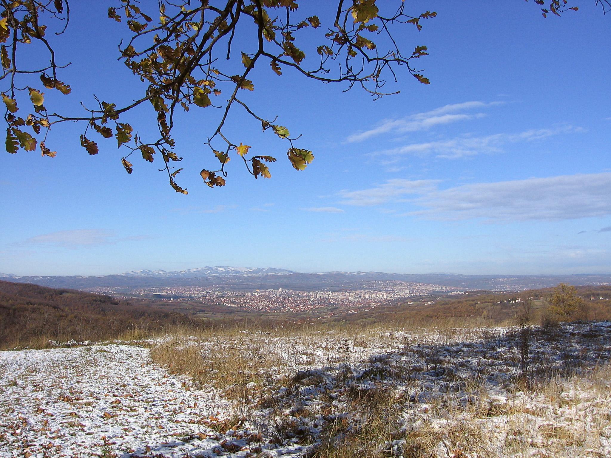 Поглед са стазе према Крагујевцу