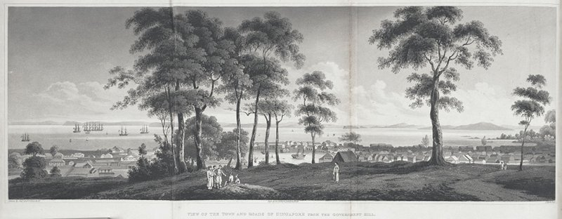 View_of_the_town_and_roads_of_Singapore_from_the_government_hill_published_1828