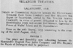 perjanjian selangor 1818