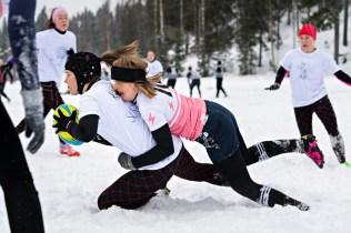 Kuopio Rugby Club vs. Malanka (Belarus). Snow rugby -turnaus Jyväskylässä 10.3.2018.
