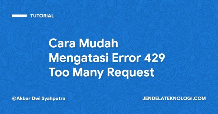 Error 429 Too Many Request