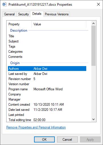 Cara Hapus Data Pribadi pada Microsoft Word