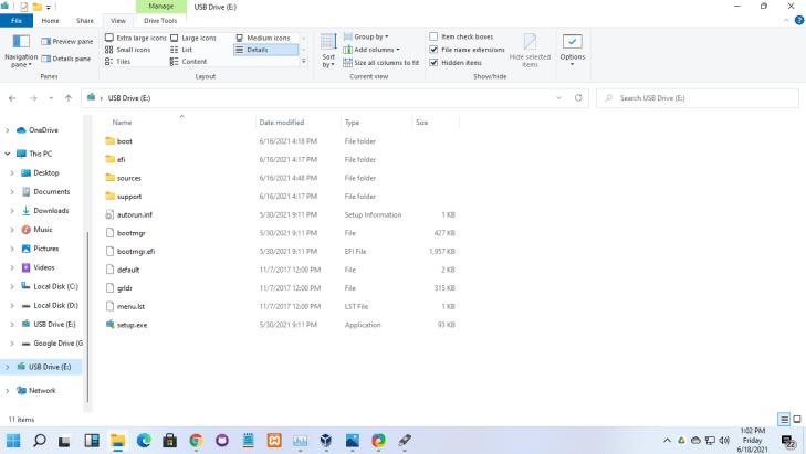 Hasil Bootable Windows 11