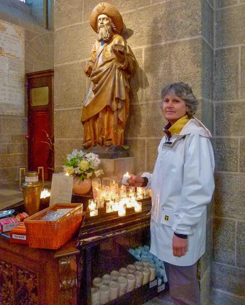 Statue de Saint Jacques, cathédrale du Puy-en-Velay