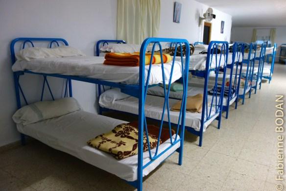 Le grand dortoir du dernier étage peut accueille jusqu'à 70 pèlerins. © Fabienne Bodan