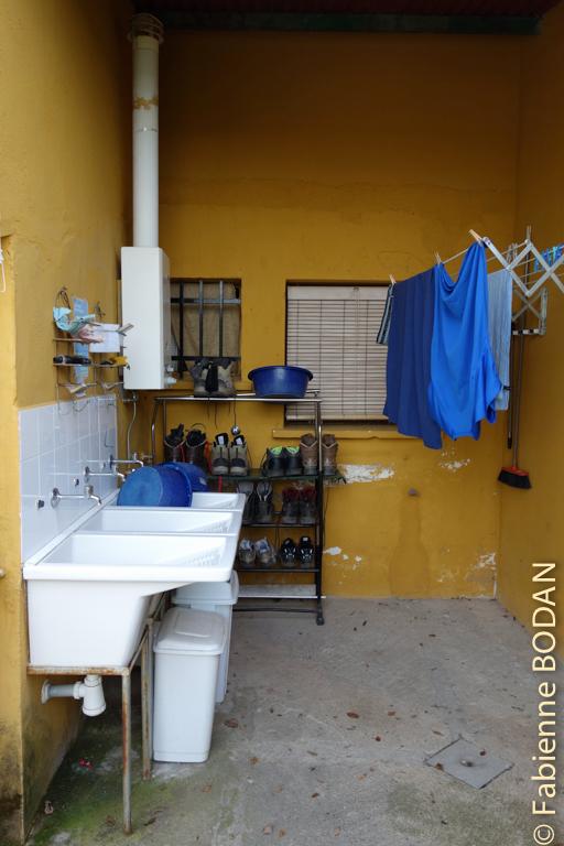 L'espace lavage...à la main © Fabienne Bodan