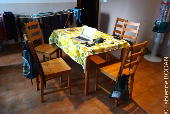 A l'étage, l'espace exclusivement réservé aux pèlerins comprend une partie salle à manger...© Fabienne Bodan