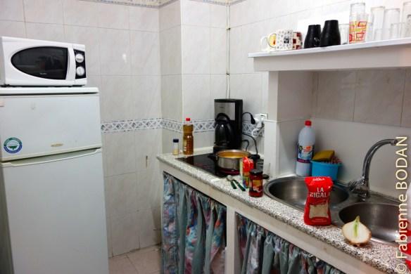 Une petite cuisine à chaque étage. Les hospitaliers y déposent les ingrédients nécessaires au petit déjeuner. © Fabienne Bodan