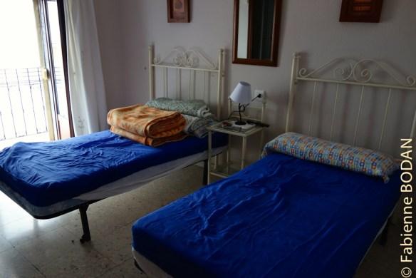 Ici une chambre pour 2 personnes. © Fabienne Bodan