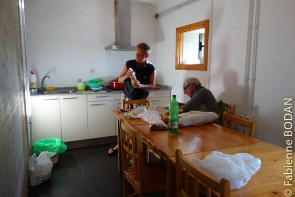 Une belle cuisine bien équipée pour les pèlerins cuisiniers...© Fabienne Bodan