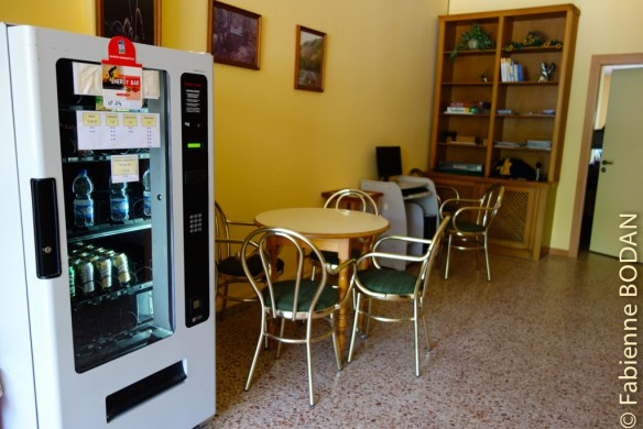 ...ainsi qu'un distributeur de boissons fraîches ou chaudes...© Fabienne Bodan