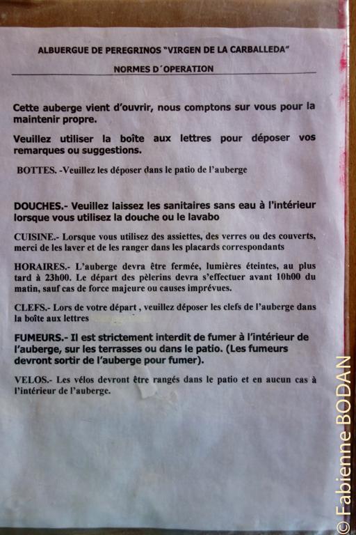 Le règlement intérieur, dans toutes les langues...© Fabienne Bodan