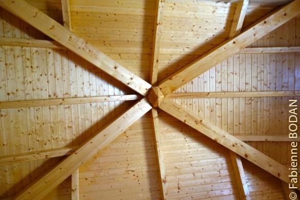 Le plafond de l'un des dortoirs...© Fabienne Bodan