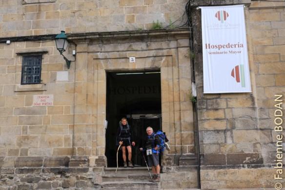 L'ancien Seminario Mayor a été transformé en l'hôtel San Martin Pinario. Il est situé en face de l'entrée latérale de la cathédrale de Santiago, en descendant de la place Cervantès. © Fabienne Bodan