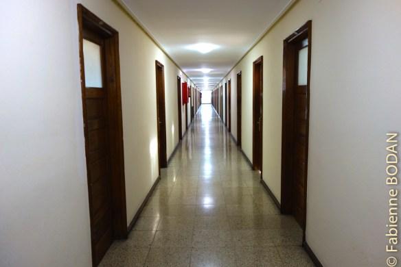 ...et de chambres individuelles, doubles ou triples très simples, avec salle de bains privative, au quatrième étage de l'hôtel...© Fabienne Bodan