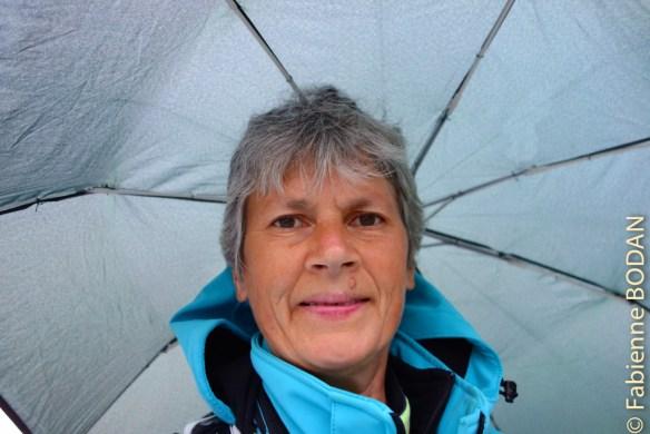 I'm singing in the rain. Aujourd'hui, l'une des rares étapes sous la pluie de cette Via de la Plata. © Fabienne Bodan