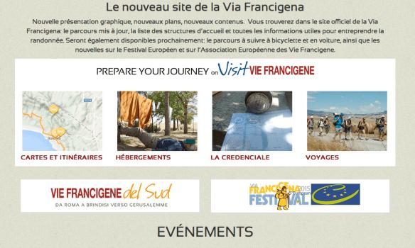 Le site de l'association européenne de la Via Francigena