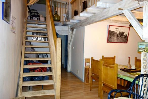 Il y a des chambres en bas et à l'étage. 2 lits par chambre...© Fabienne Boodan