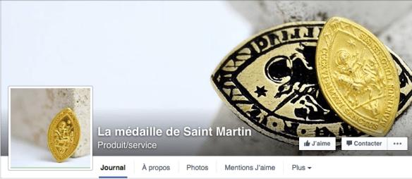 """Capture d'écran de la page Facebook """"Médaille de Saint Martin"""""""