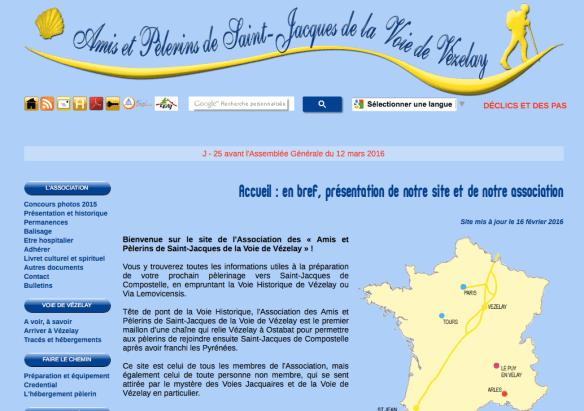 association des Amis et pèlerins de Saint-Jacques de la Voie de Vézelay