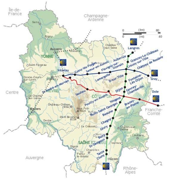 Source : site internet de Capture d'écran de la Confrérie des Pèlerins de Saint Jacques en Bourgogne