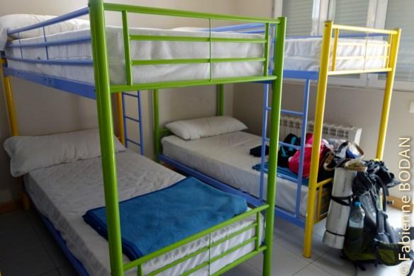 Le dortoir de 8 lits © Fabienne Bodan