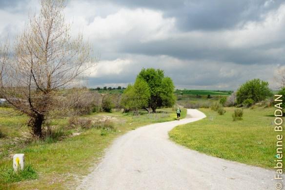 Camino de Madrid, étape N° 2 : dès la sortie de Fuencarral, l'on chemine sur des sentiers en pleine nature © Fabienne Bodan