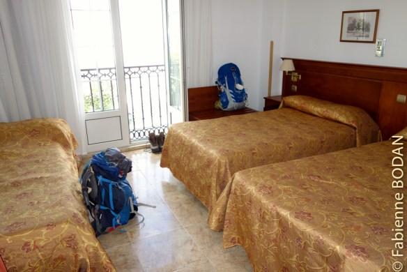 Chambre à 3 lits de l'hôtel El Gran Chiscon © Fabienne Bodan