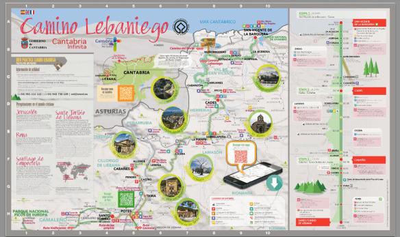 Carte du Camino Lebaniego (source : site internet de ce camino)