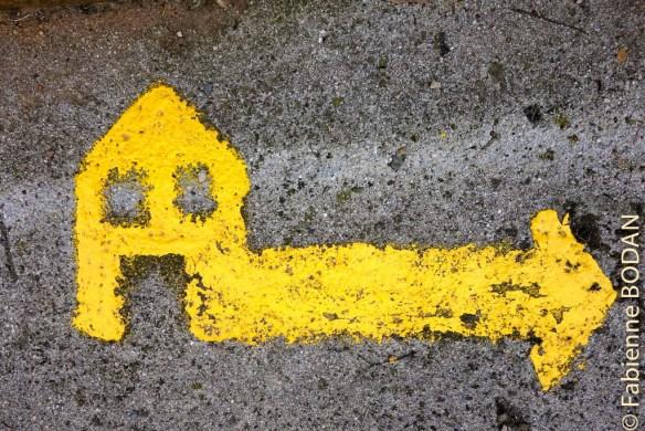 Suivez ce signe pour vous rendre à l'Albergue privado A Casa de Solaina, de A Rua (Camino del Invierno) © Fabienne Bodan