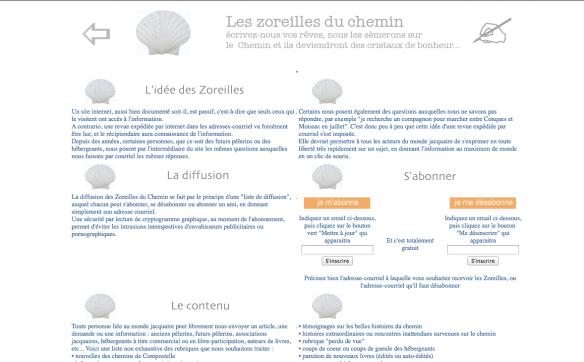 Capture d'écran du site internet des Editions du Vieux Crayon, page Les Zoreilles
