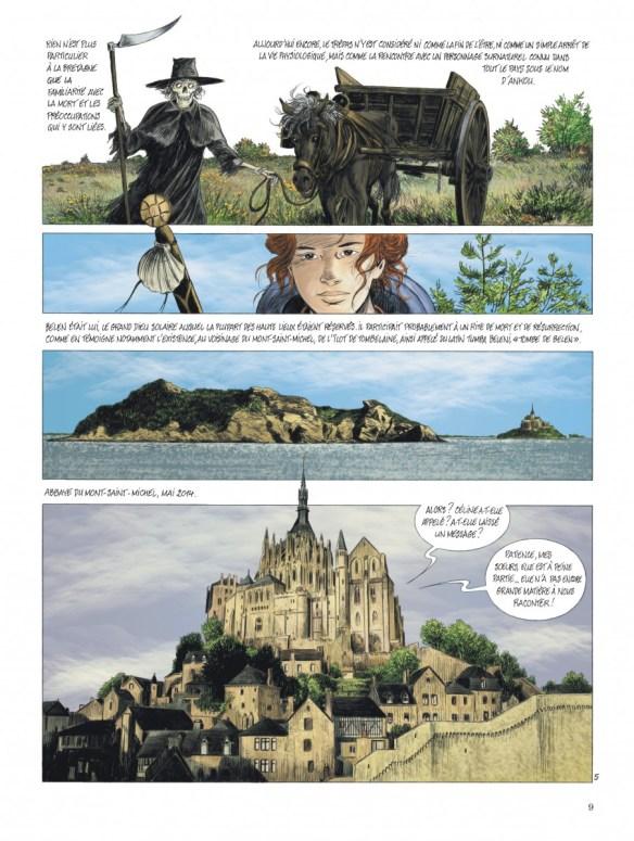 """Bande-dessinée """"Les chemins de Compostelle (Tome 2), «L'ankou, le diable et la novice» de Jean-Claude Servais aux Editions Dupuis. Extrait 5."""