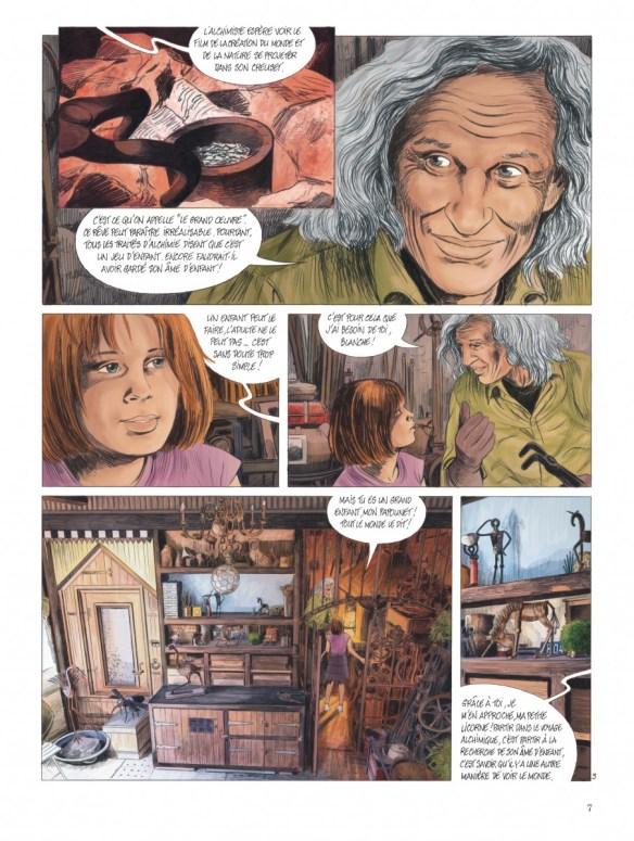 """Bande-dessinée """"Les chemins de Compostelle (Tome 1), «La petite licorne» de Jean-Claude Servais aux Editions Dupuis. Extrait 4."""