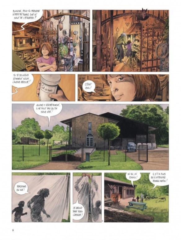 """Bande-dessinée """"Les chemins de Compostelle (Tome 1), «La petite licorne» de Jean-Claude Servais aux Editions Dupuis. Extrait 5."""