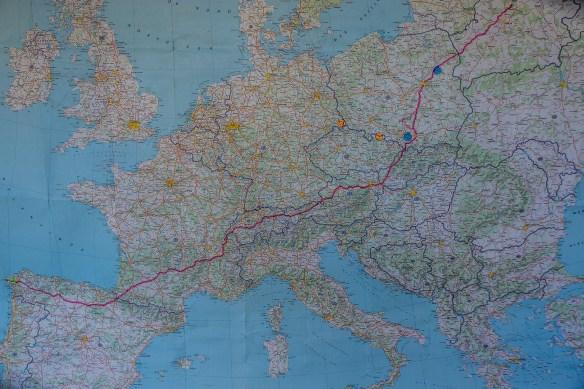 Itinéraire de Jean-Claude Mary de Biélorussie à Compostelle
