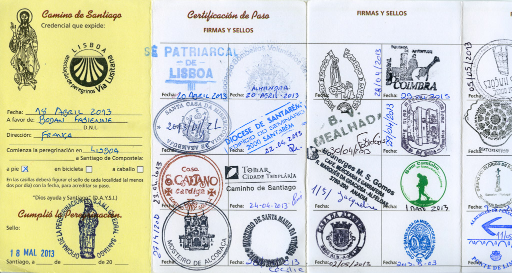 Credencial Compostelle