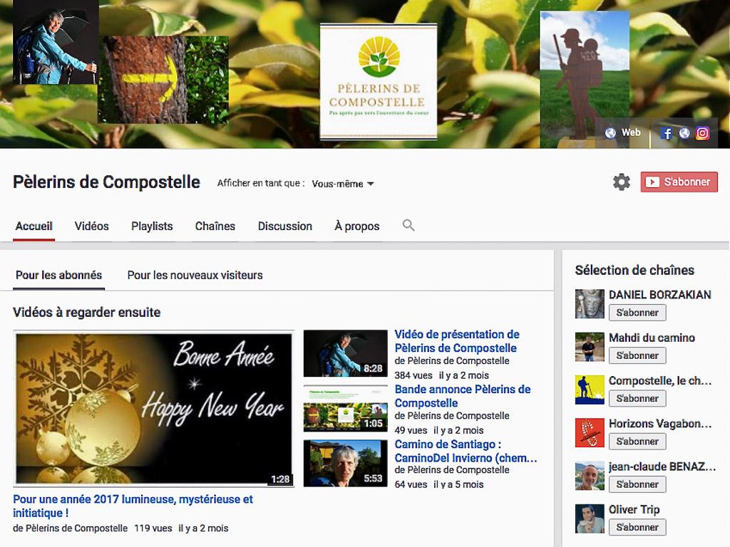 Chaîne You Tube Pèlerins de Compostelle