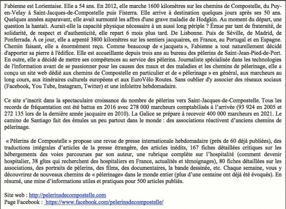 Bulletin Camino N°179 de juillet 2017