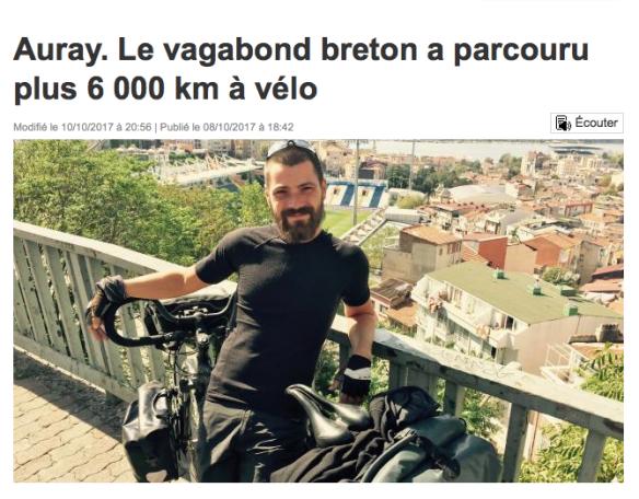 Julien Le Gall, alias le vagabond breton