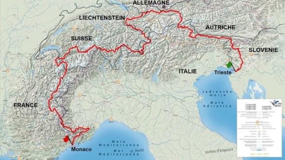 Via Alpina, le parcours rouge