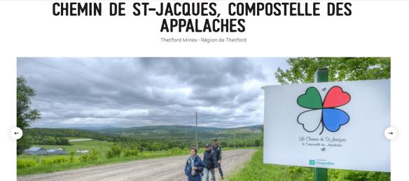 Chemin de Saint-Jacques - Compostelle des Appalaches, Québec