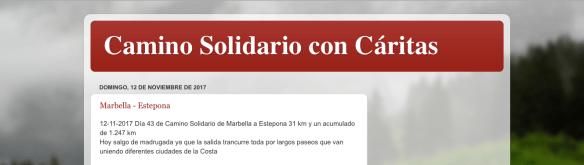 Salvador Serra fait le tour de l'Espagne à pied pour Caritas