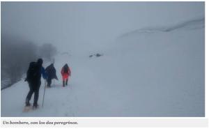 Un couple de pèlerins écossais secourus par les pompiers de Navarre sur l'étape entre Saint-Jean-Pied-de-Port et Roncevaux