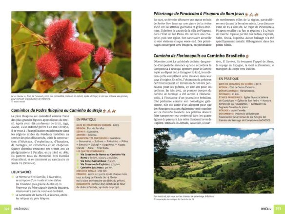 Guide chemins de pèlerinage du monde de Fabienne Bodan (extrait page Amérique)