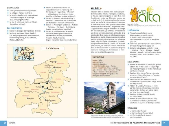 Guide chemins de pèlerinage du monde de Fabienne Bodan (extrait page Europe)