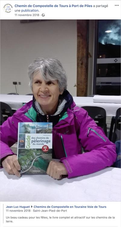 Jean-Luc Huguet Association Chemins de Compostelle de Tours à Port de Piles et le Guide des chemins de pèlerinage du monde