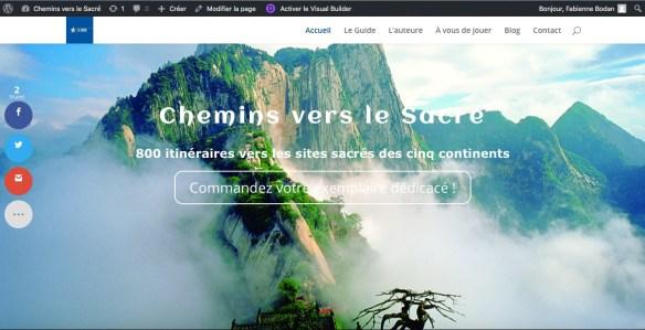 Site web Chemins vers le Sacré de Fabienne Bodan