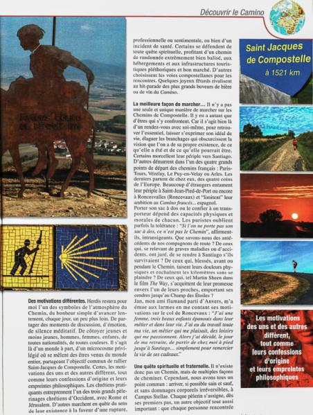 """Article """"La magie des chemins (de Compostelle)"""" rédigé pour le N°148 de Globe-Trotters Magazine (page 2/4 de l'article)."""