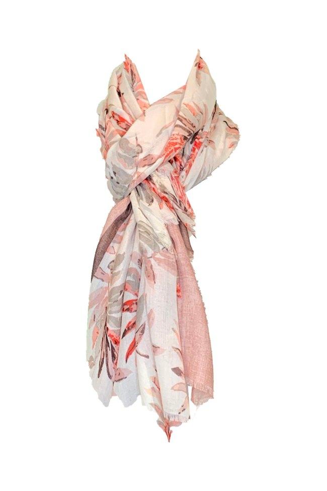Pañuelo estampado rosa