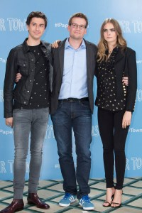 nat wolff, john green and cara delevingne PAPER TOWNS